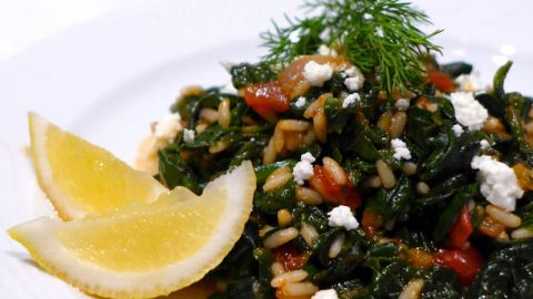 Greek Spinach and Rice