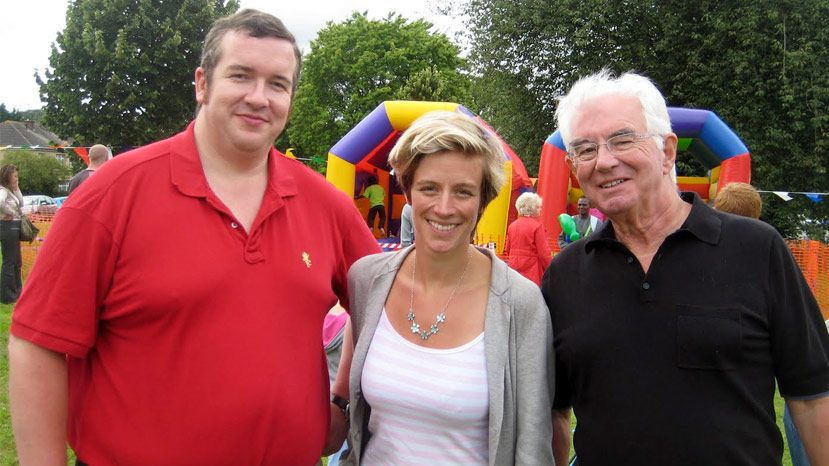 Charlotte Leslie MP with Councillors Chris Windows and Mark Weston at Henbury Funday
